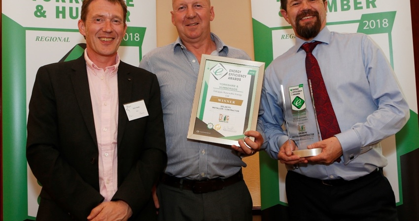 Oakapple Renewable Energy Ltd wins Solar PV Installer of the year award 2018